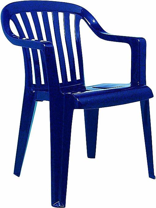 BEST 18080520 Silla de jardín - sillas de jardín (Dining, Sólido, Asiento Duro) Azul: Amazon.es: Jardín