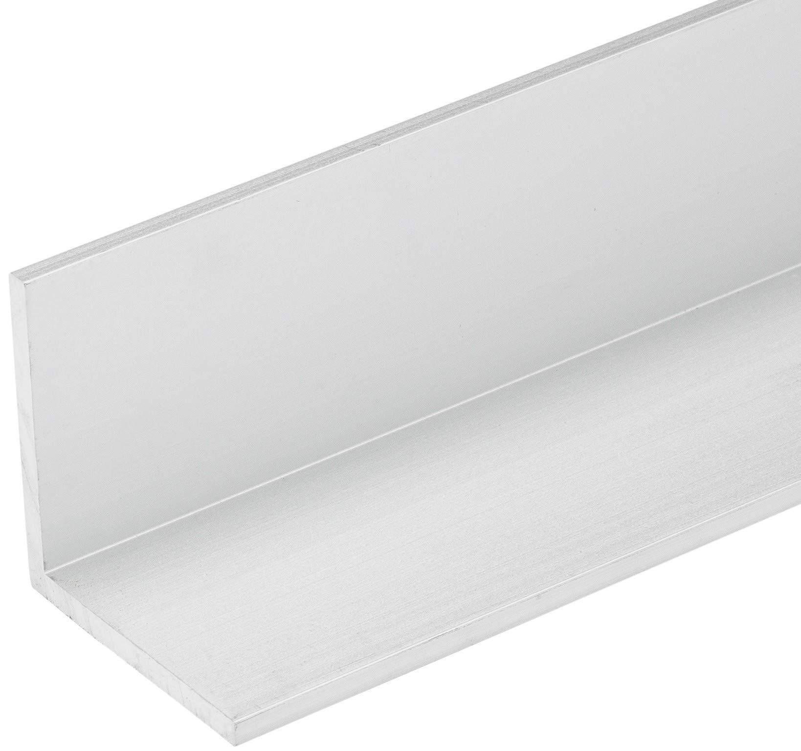 48'L x 1 1/4''W x 1/8''T Long Clear Anodized Aluminum Angle (3 Pack) Made in USA by Randall Manufacturing Co., Inc