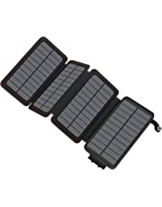 ADDTOP Solar Charger 25000mAh, Portable Power Bank with Dual USB Ports Waterproof Battery Charger for Smartphones and Tablets