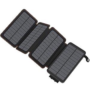 ADDTOP Cargador Solar 25000mAh, Power Bank Portatil Batería Externa de...