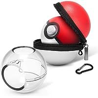 HEYSTOP Estuche de Transporte para Pokemon Poke Ball Plus, Rígida Portátil de Viaje Funda Protectora y Funda de Transporte Funda para Bola de Poke para Nintendo Switch Accesorios (2 Unidades)