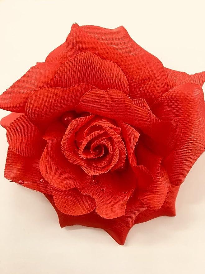 Kanzashi shiny hair clip burgundy flower girl ladies hair clip Christmas handmade wine red and pink gift hair clip