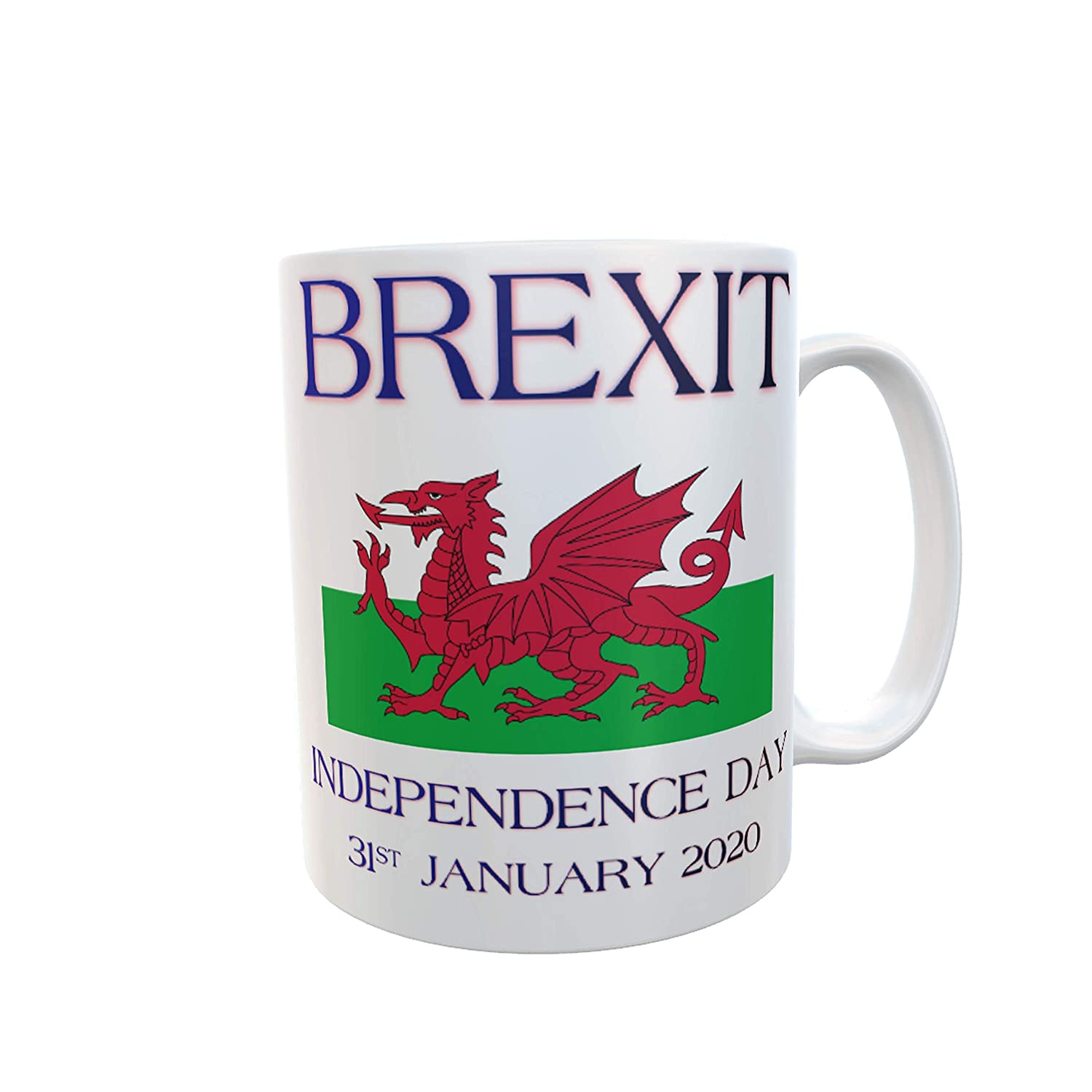 UK Independence Day Brexit Mug Wales Flag 31st January 2020 UKs Exit from the European Union Tea Coffee Mugs #Brexit