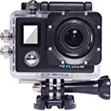 Matego Action Camera 4K Wireless WiFi Camera 16MP Photo Resolution 170 Degree Wide Angle Lens 2 Inch Screen with Motion Detection Gapless and Cycle Recording Function
