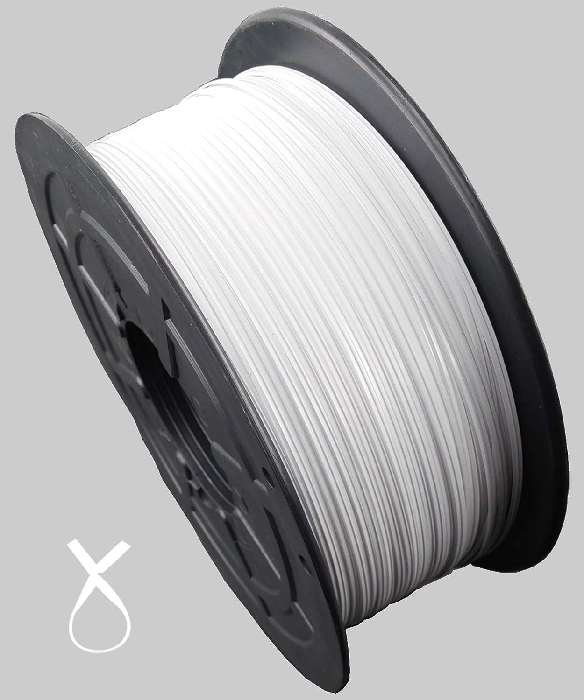 faconet/® Twist Ties Twist banda presilla Bolsa Bolsas con cierre Cierre alambre de alambre de pl/ástico con estera para plantilla Blanco