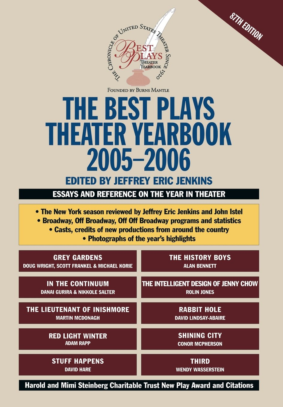 The Best Plays Theater Yearbook 2005-2006