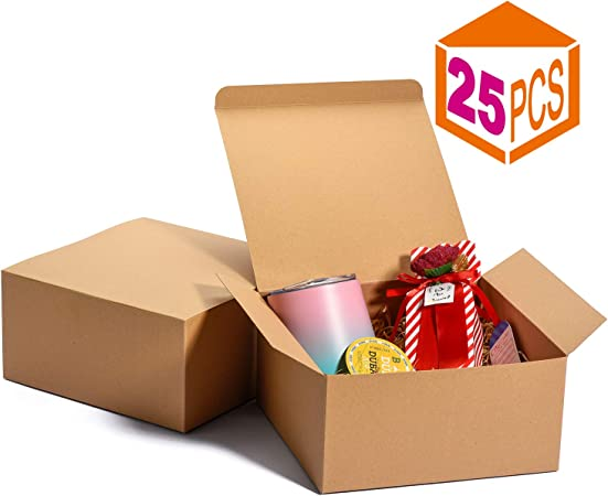 Lot 100 BROWN KRAFT Gift Boxes 4x4x4 WEDDING BAKERY FAVOR PARTY BOX PRETTY Small