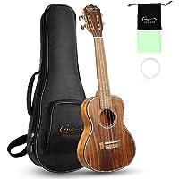 Hricane Ukulele Concert 23 inch Koa Solid Wood Professional Ukulele with Gig Bag Ukulele String Set