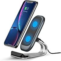 Fast Wireless Charger, 10W Wireless Charging Stand,Compatible iPhone 12/11/XR/Xs Max/XS/X/8/8 Plus, Fast-Charging Galaxy…