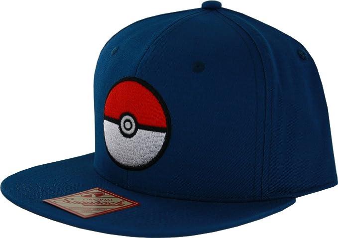 85392e8a618 Pokemon Pokeball Blue Snapback at Amazon Men s Clothing store