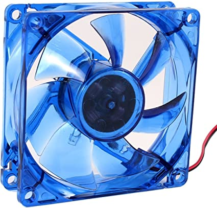 Gino 8 cm x8 cm x2.5 cm LED azul CPU-disipador-ventilador ...