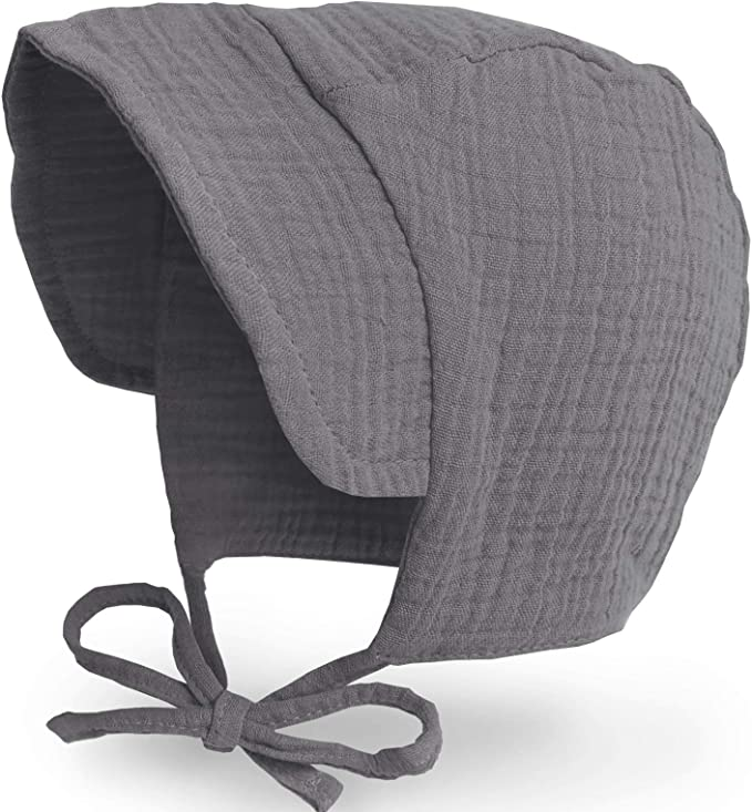 Cotton Toddler Hat Infant Boys Girls Beanie Caps JELLYTREE Baby Hat Brimmed Bonnet Breathable Double Gauze 6-24m