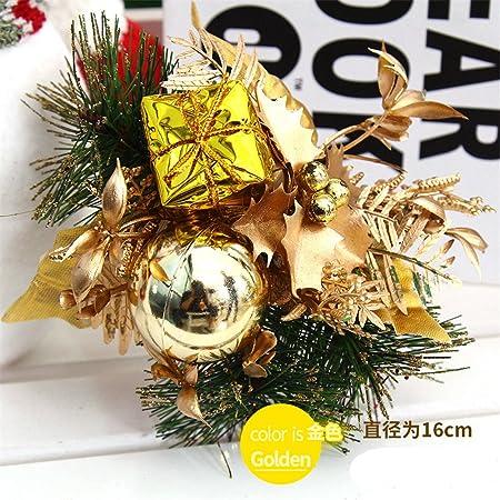 HJHET Adornos del árbol de Navidad pack de regalo floral decorar decorar decorar hojas de junco, j-?16cm: Amazon.es: Hogar