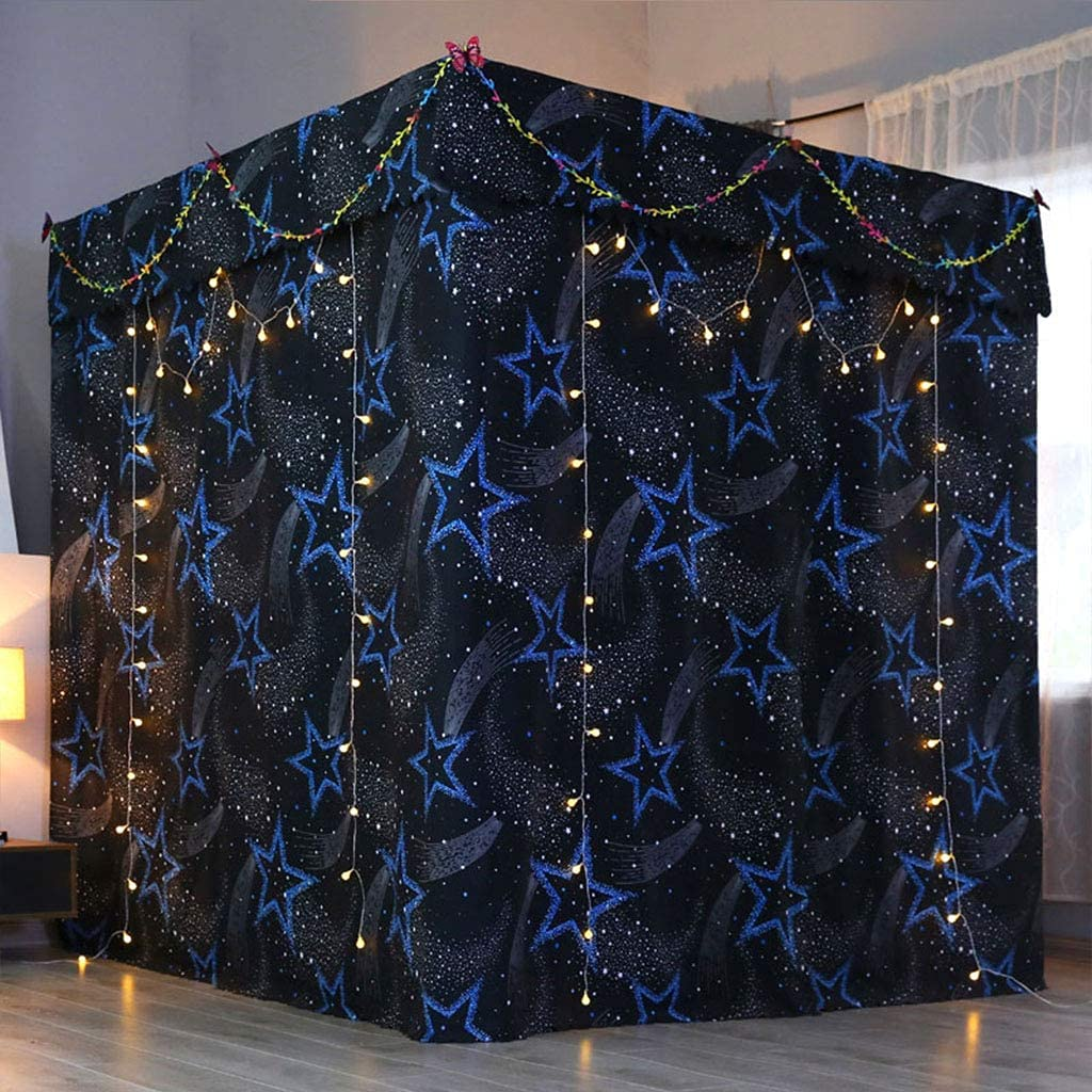 Obokidly Princess 4 Corner Post Super intense SALE Max 48% OFF Curtain Canopy;Windproof Lig Bed