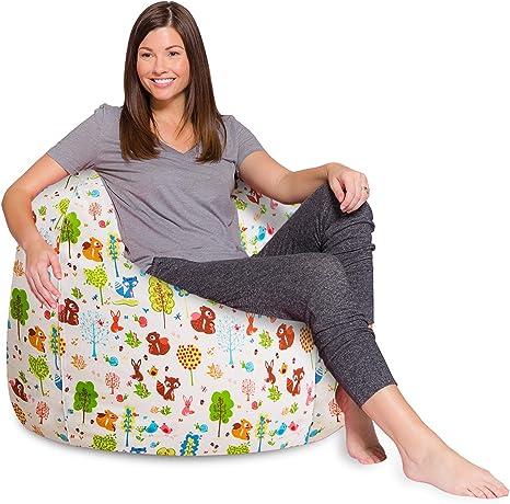 Indoor und Outdoor Sitzsackh/ülle Beige Sitzsackbezug ohne F/üllung Green Bean /© Square XXL Riesensitzsackh/ülle 140x180 cm abwaschbar Bean Bag Bezug Lounge Chair H/ülle PVC Bezug