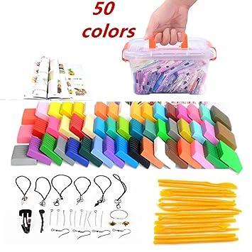Polymer Ton 24 Farben Clay Fimo Ofen Backen Lehm Kinderknete Werkzeuge DIY