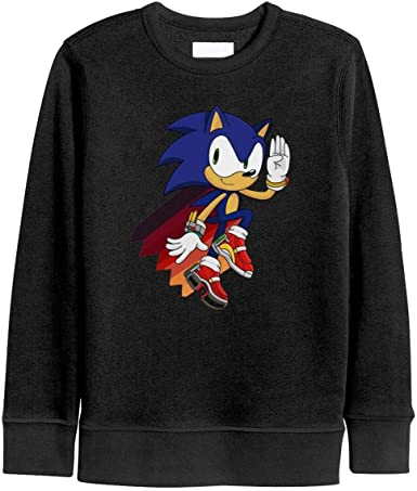 Amazon Com Beercsdd2 Boys Girls Pullover Sweatshirt Funny Sonic The Hedgehog Extraterrestrial Blue Adventure Long Sleeve Party T Shirts Clothing