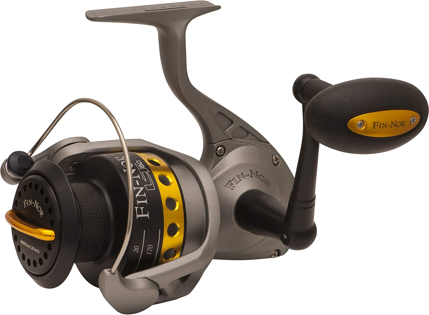 Fin-Nor LT60 Lethal Spinning Reel, 240-Yards, 14-Pound Mono Line ...