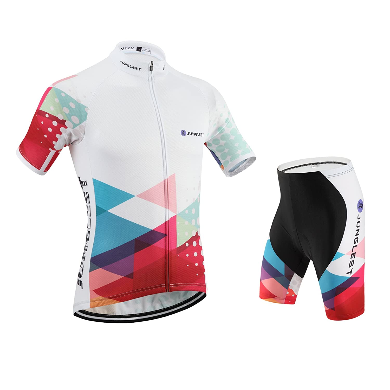 JUNGLEST Maillot de Cyclisme Homme Manches Courtes Jersey S~5XL,Option:Cuissard,3D Coussin N120