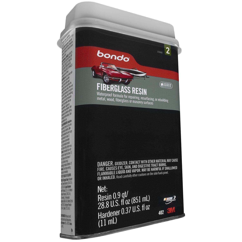 3M 402 Bondo Fiberglass Resin-851ml Hardener- 11ml