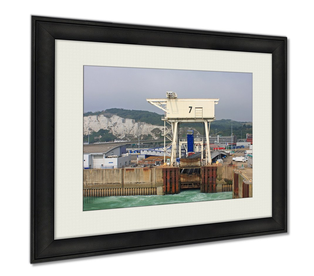 Ashley Framed Prints Dover Harbour, Wall Art Home Decoration, Color, 30x35 (frame size), AG5490535 by Ashley Framed Prints