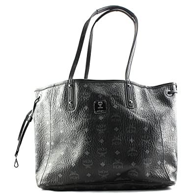 MCM Women's Shopper Tote, Black, One Size: Handbags: Amazon.com
