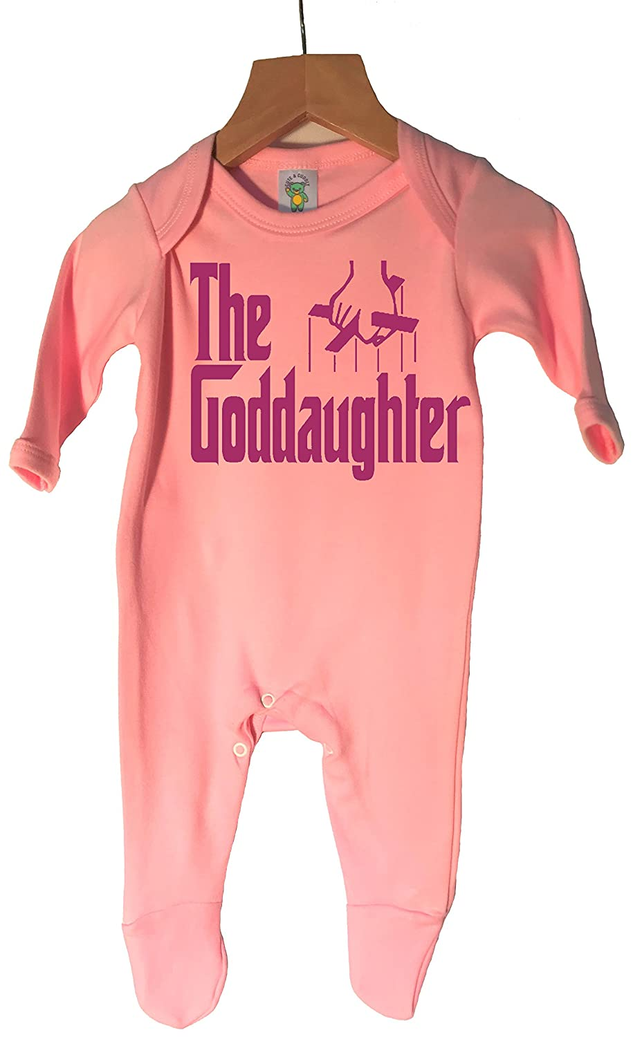 'The Goddaughter' 100% cotton sleepsuit in choice of 3 colours and 4 sizes.