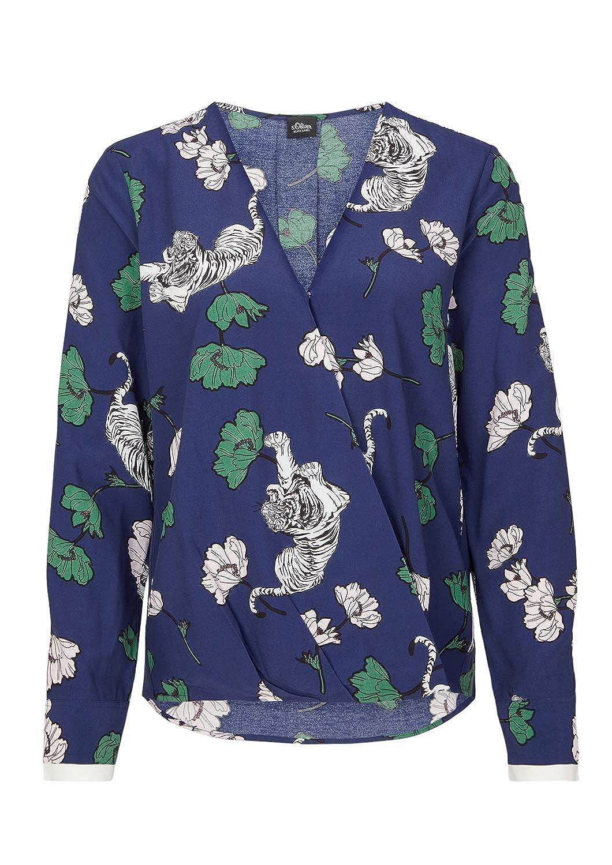 s.Oliver Black Label Damen Tunika Langarm floraler Print