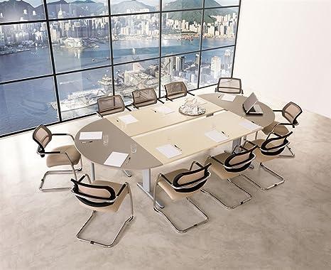 Tavolo da ufficio sala riunioni - VA1162, L 309,5 x 170 x H ...