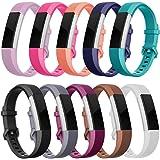 Minfex Fitbit Alta HR Armband, Alta Armbänder Weiches Verstellbares Sport Ersatzarmband Fitness Zubehör mit Metallschließe für Fitbit Alta/Alta HR Damen Herren