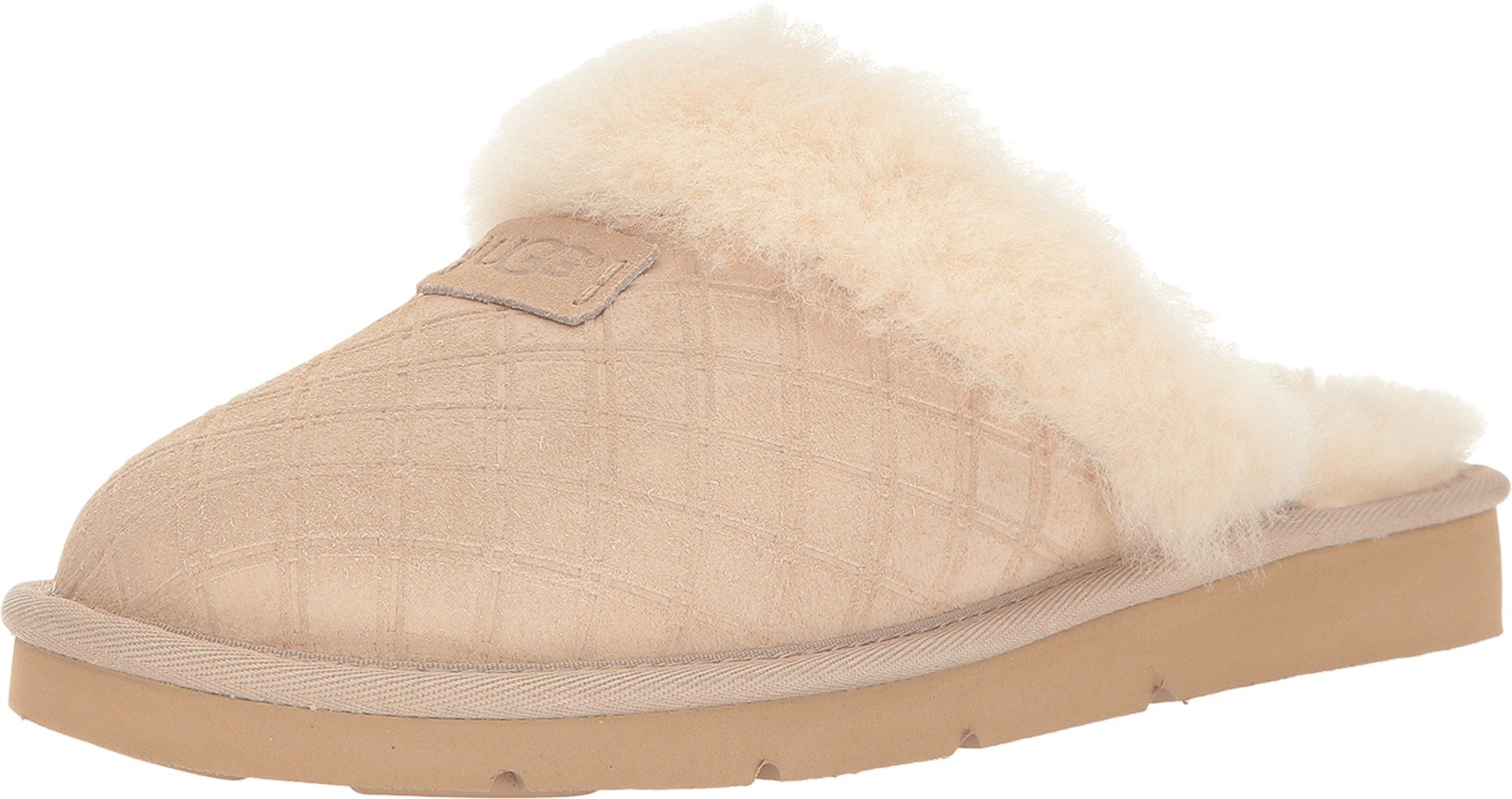 UGG Women's Cozy Double Diamond Holiday Box Pearl Slippers 12 M