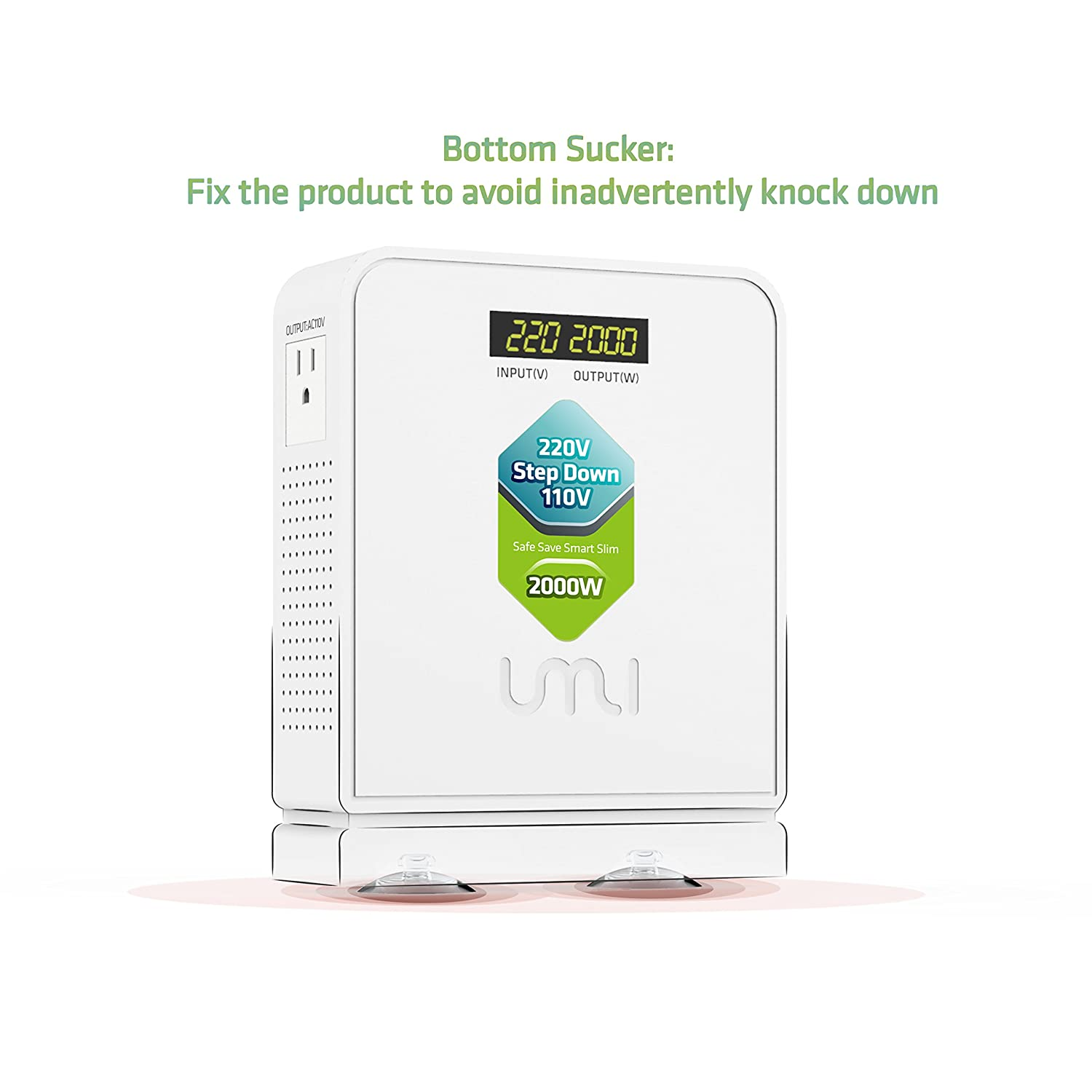 Step Down 220V to 110V Voltage Converter 2000Watts for US and Japan Appliance to be Used in Euro and Asia