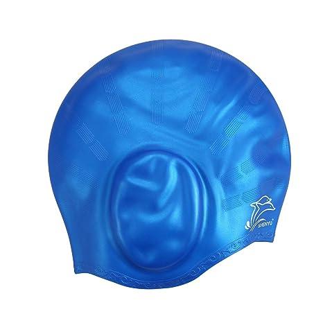 Aolvo impermeabile cuffia da nuoto in silicone 672024ef30b3