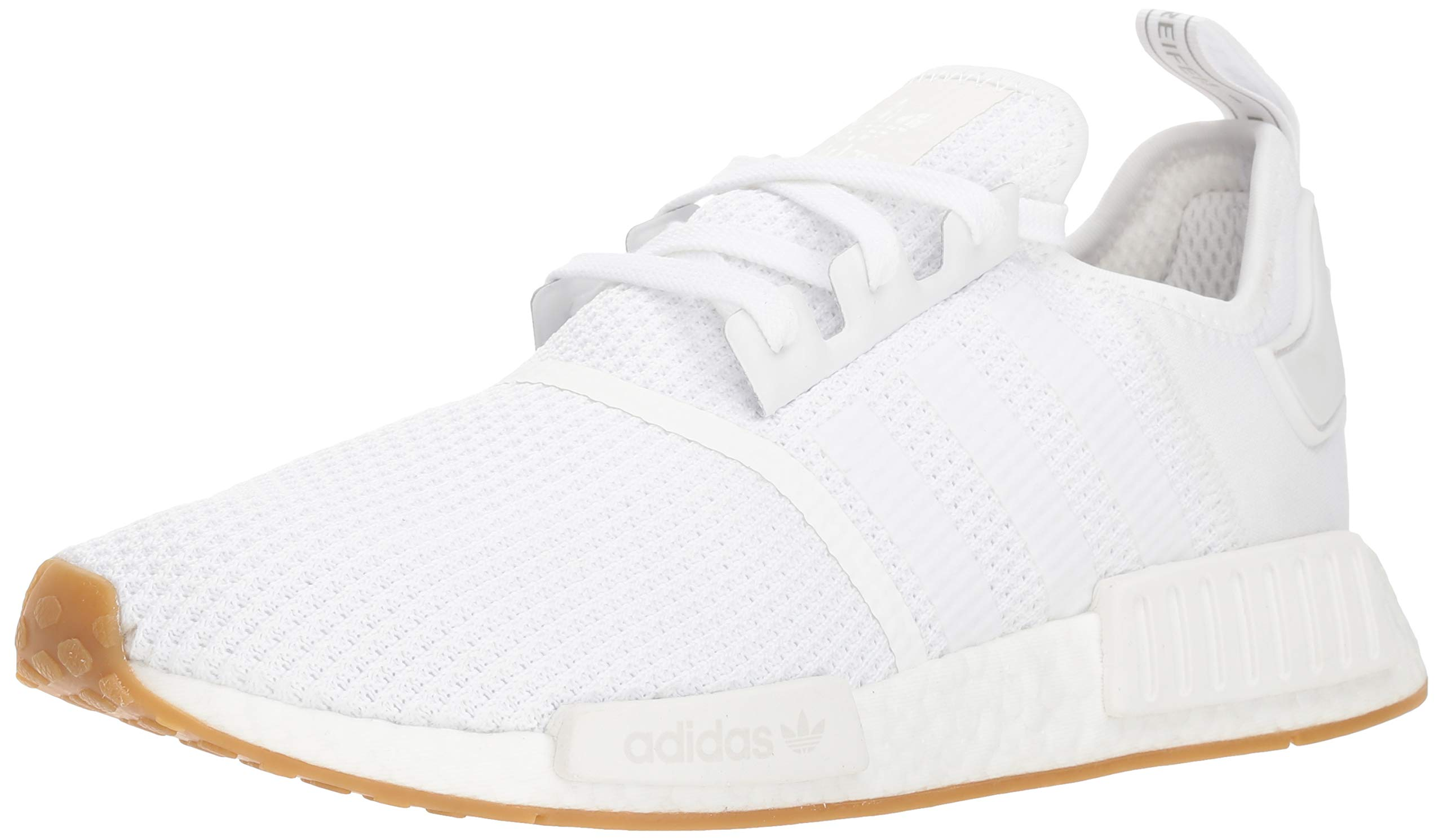 adidas Originals Men's NMD_R1 Running Shoe, White/Gum, 7.5 M US