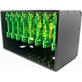 Cloudlet CASE: Cluster Case for Raspberry Pi and Other Single Board Computers (RPi 4B Compatible) (Black Lime)