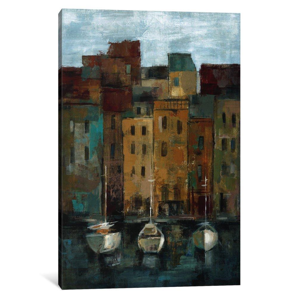 60 x 40//0.75 Deep iCanvasART 3 Piece Old Town Port II Canvas Print by Silvia Vassileva