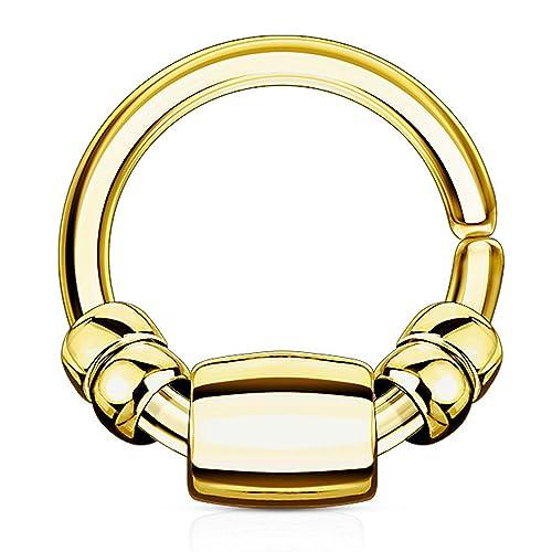 Amazon.com: Codicia joyas acero quirúrgico recocido Flexible ...