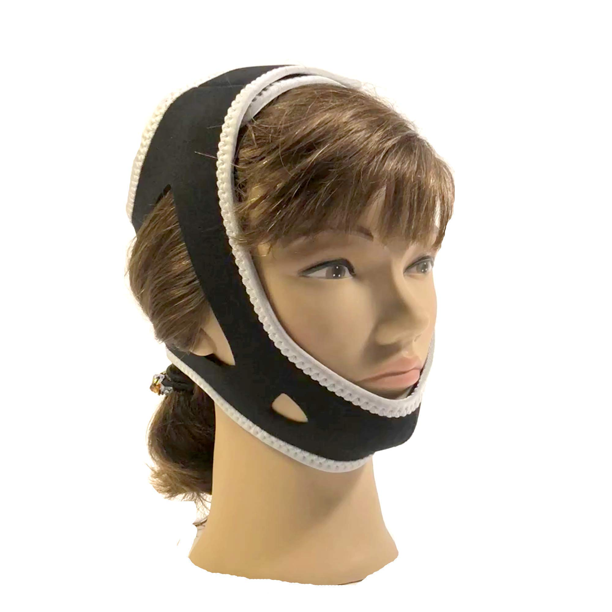 Anti-Snore Chin Strap - Stop Dry Mouth for CPAP Users - Deluxe Adjustable All Natural Snore Stopper Solution Aid for Men and Women - Aids Sleep - Snore Relief Chin Straps by Boundary Life