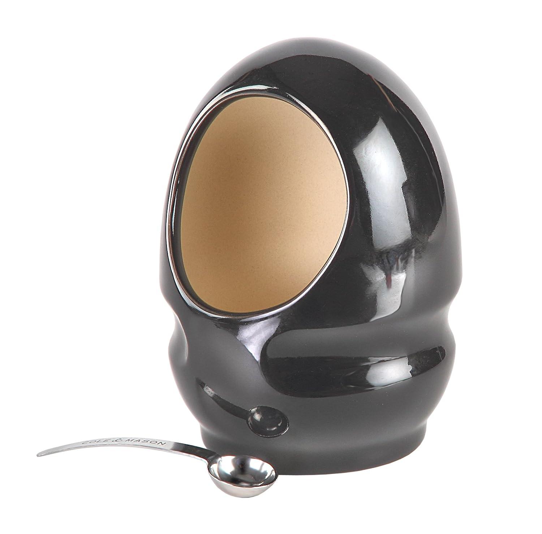 Cole & Mason Salt Keeper With Magnetic Spoon - Ceramic/Black H100169