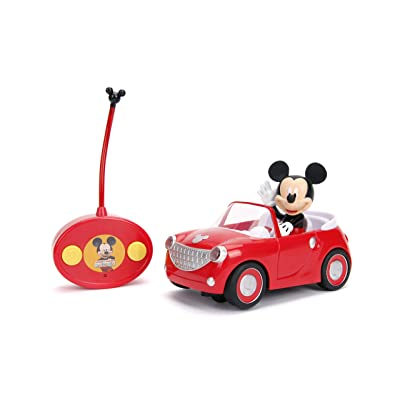 "Jada Toys Disney Junior Mickey Mouse Clubhouse Roadster RC Car, 7"" Red: Toys & Games"