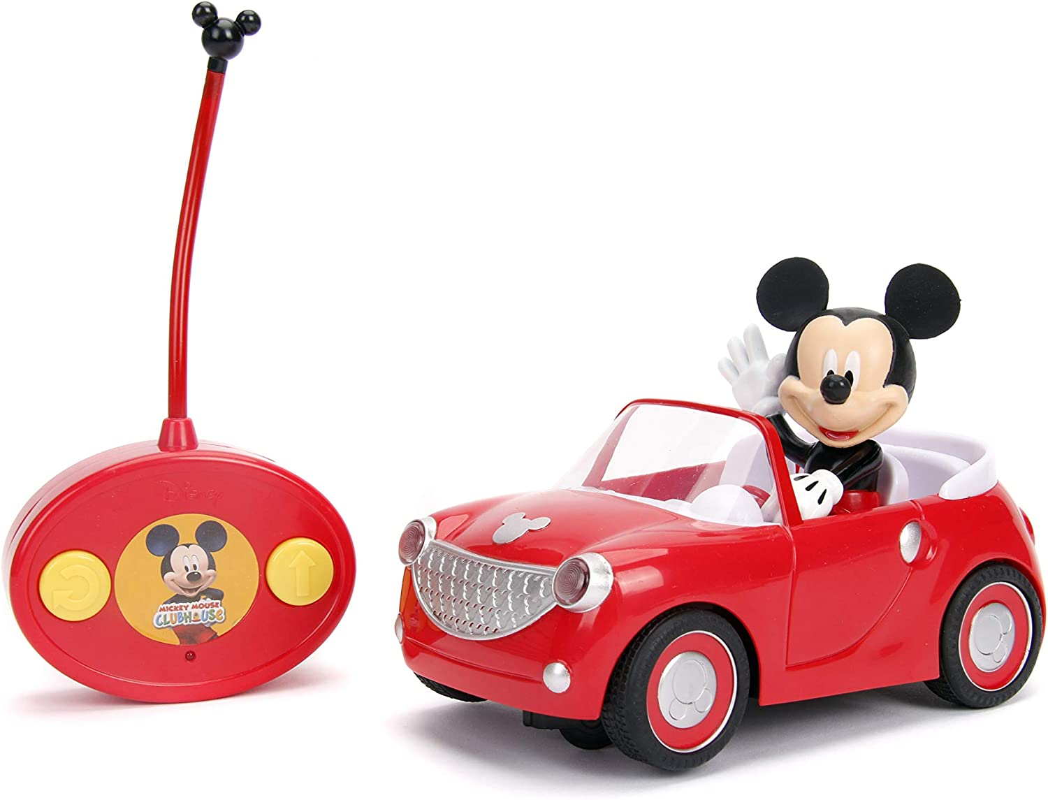 Amazon Com Jada Toys Disney Junior Mickey Mouse Clubhouse Roadster Rc Car 7 Red Toys Games