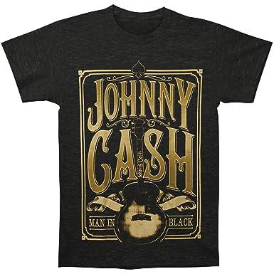 b8046f5f2 Amazon.com: Johnny Cash Men's Signature Guitar T-Shirt Vintage: Clothing