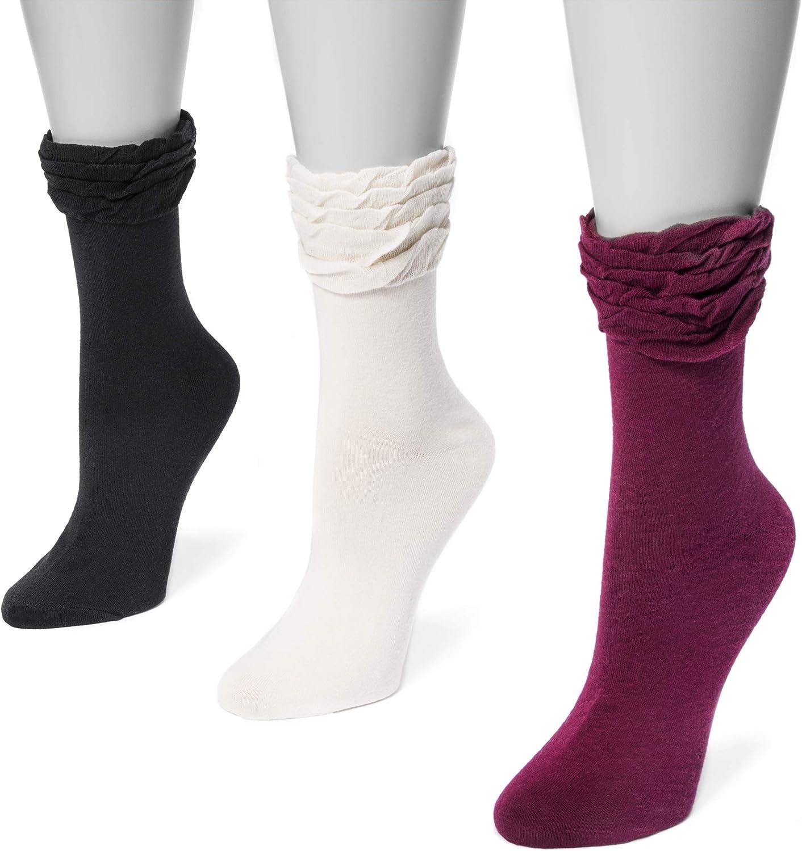 Muk Luks Women's Ruffle Boot Socks