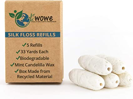 Wowe Natural Biodegradable Paz seda Dental Hilo Recambios con cera ...