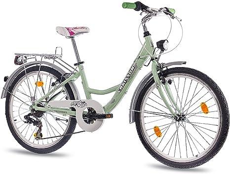 CHRISSON 24 Pulgadas Aluminio City Bike Juvenil Cilindro de Chica ...