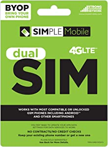 TracFone Sim Card for Tmobile - Retail Packaging - White