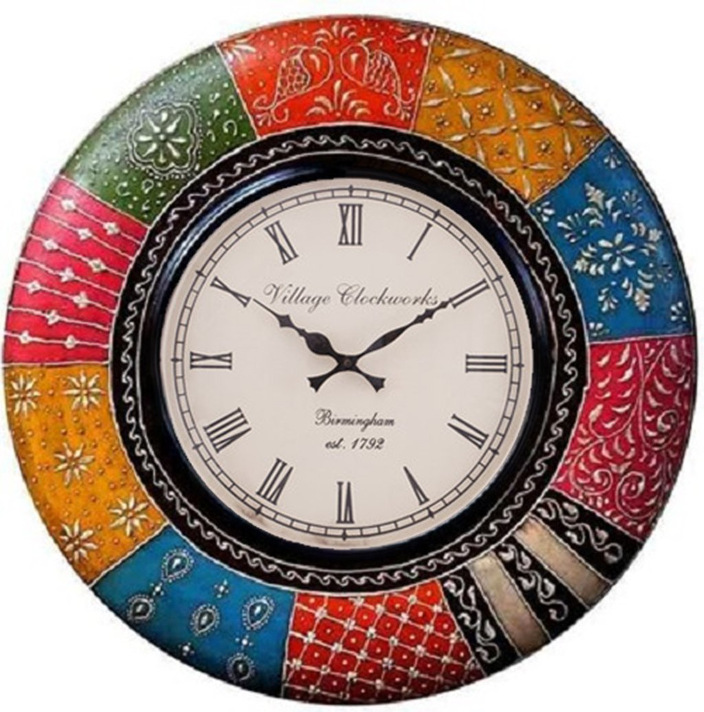 Buy royalscart boistrous colors analog wall clock online at low buy royalscart boistrous colors analog wall clock online at low prices in india amazon amipublicfo Gallery