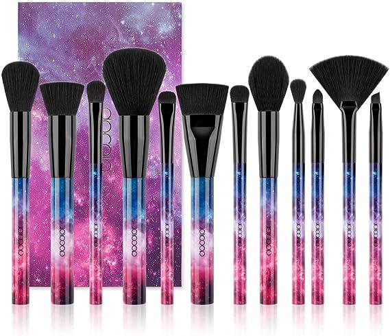 Brochas de Maquillaje 12 Piezas de Docolor, Galaxy Star, Cerdas de ...