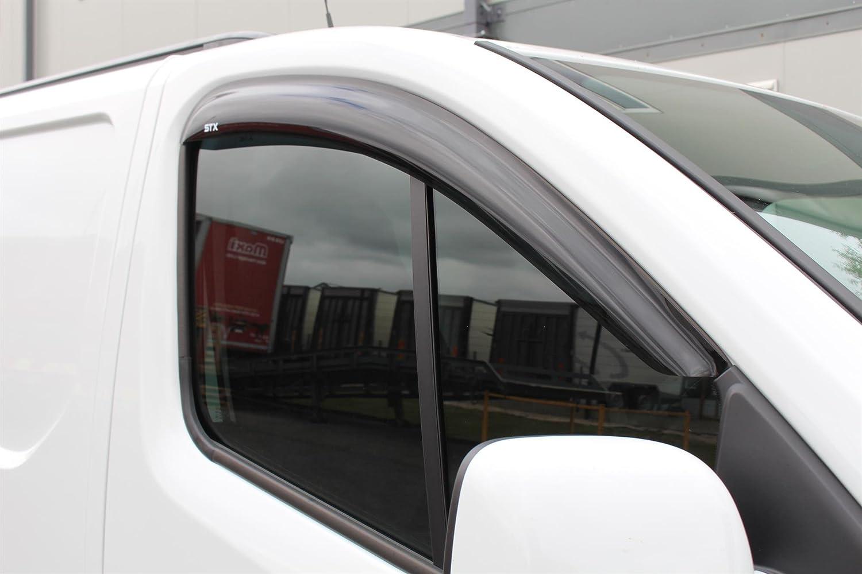 STX D015 WIND VISORS RAIN SHIELDS EXTERNAL FIT RENAULT TRAFIC 2015 ON WIND DEFLECTORS