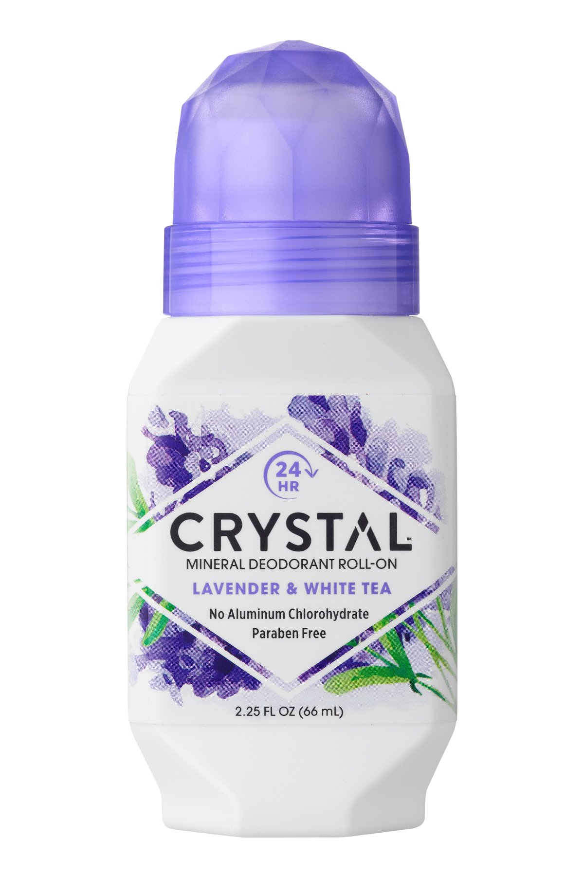Crystal Mineral Deodorant Roll-On, Lavendar & White Tea 2.25 oz (Pack of 3)